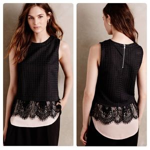 Anthropologie greylin layered Lilith lace tank XS